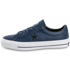 Chaussures Converse One Star Leather bleu marine