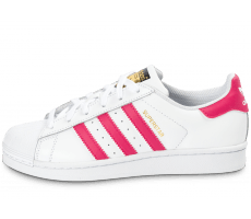 Chaussures adidas Superstar Foundation Junior blanche et rose