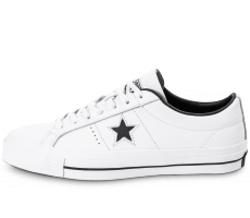 Chaussures Converse One Star Leather Blanche