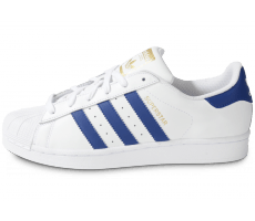 Chaussures adidas Superstar Foundation blanc bleu