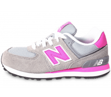Chaussures New Balance KL574 grise et rose