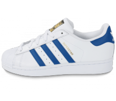 Chaussures adidas Superstar Foundation Junior blanche et bleue