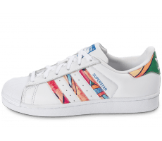 Chaussures adidas Superstar Tropical blanche