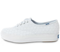 Chaussures Keds Champion Eyelet Compensée Blanche