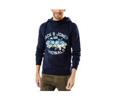Textiles Jack & Jones Sweat à Capuche Clipped bleu marine
