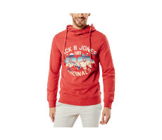 Textiles Jack & Jones Sweat à Capuche Clipped rouge