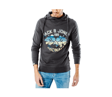 Textiles Jack & Jones Sweat à Capuche Clipped noir