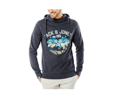 Textiles Jack & Jones Sweat à Capuche Clipped gris anthracite
