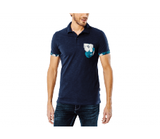 Textiles Jack & Jones Polo Tropical bleu marine
