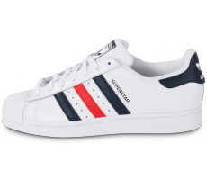 Chaussures adidas Superstar Foundation bleu blanc rouge