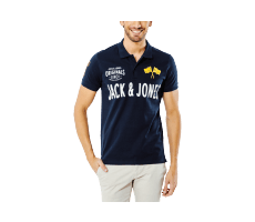 Textiles Jack & Jones Polo Toulouse bleu marine