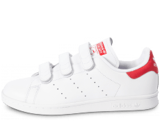 Chaussures adidas Stan Smith CF Velcro blanc rouge
