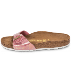 Chaussures Birkenstock Madrid Shiny Snake rose