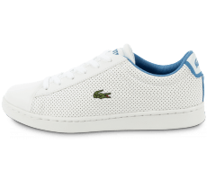 Chaussures Lacoste Carnaby Evo Junior blanche et bleue