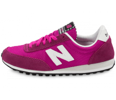 Chaussures New Balance WL410 VIA rose et blanche
