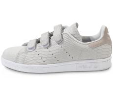 Chaussures adidas Stan Smith Cf Velcro grise