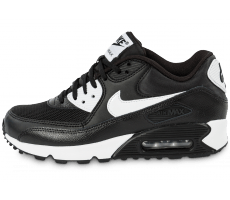 Chaussures Nike Air Max 90 Essential noire et blanche