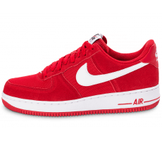 Chaussures Nike Air Force 1 Suede rouge