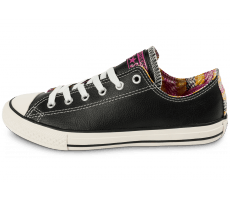 Chaussures Converse Chuck Taylor All-Star Craft cuir Junior noire
