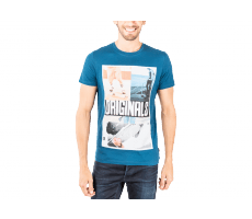 Textiles Jack & Jones T-Shirt Skateur bleu petrole