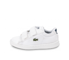 Chaussures Lacoste Carnaby Evo Bébé blanche