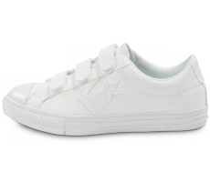 Chaussures Converse Star Player Velcro Junior blanche