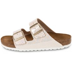 Chaussures Birkenstock Arizona Shiny Snake cream