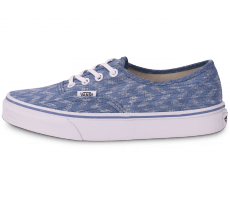 Chaussures Vans Authentic junior bleu et blanc