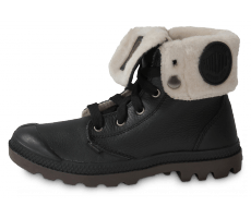 Chaussures Palladium BAGGY CUIR NOIRE