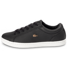 Chaussures Lacoste Straightset noire et or
