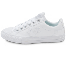 Chaussures Converse Star Player Enfant Cuir blanche