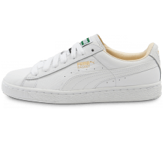 Chaussures Puma Basket Classic cuir blanche