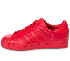 Chaussures adidas Superstar Glossy Toe rouge